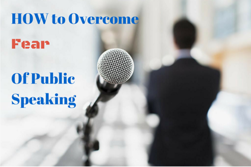 How to stop being afraid during a public speaking
