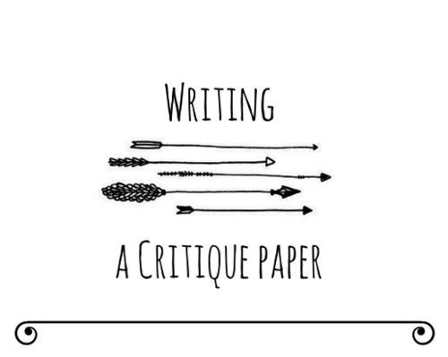 How to write the Critique Paper